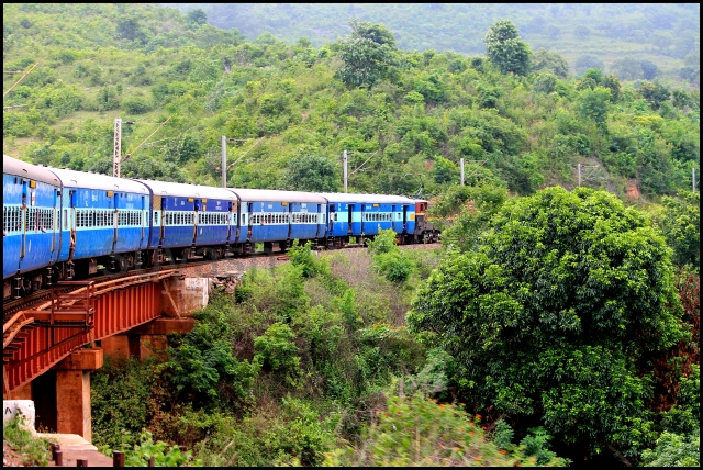 A Train Journey to Araku Valley in Monsoon